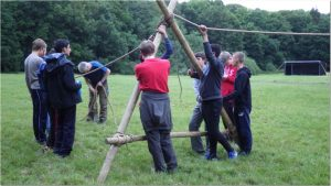Monkey Bridge, pioneering, scout activity, rope work, adventure, Explorer, Explorers, Scout, Scouts, Cuffley, cuffley-scouts