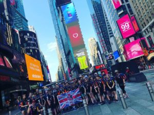 Cuffley Scout Group, Explorers, 24th World Scout Jamboree, Times Square, New York. Potters Bar District Scouting
