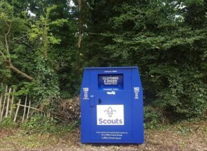 Cuffley Scout Group Clothes Bank, Beavers, Cubs, Scouts, Explorers, donations, recycling clothes, hats, tiers shoes,