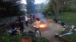 Explorers cooking