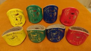 Cuffley Beaver lodge woggles worn by Beavers at the 1st Cuffley Scout Group