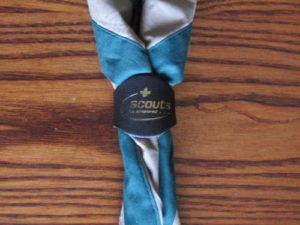 Cuffley,Scout,Scouts,Explorers,Explorer,Scarf,Leather Woggle,1st Cuffley Scouts,Khaki,Scout Green,Necker,Group Scarf