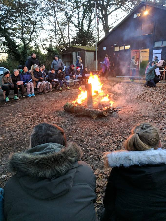 Cuffley Scout Group Traditional Camp Fire with Carols and Christmas Music