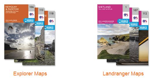Cuffley Scout Group local and regional maps suggested as presents for Scouts and Explorers