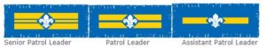 Cuffley Scout promotion for Hertfordshire Scout County Training for patrol leaders and assistant patrol leaders